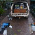 tailgate handle fix in progress