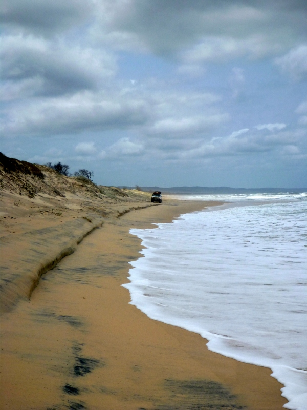 waiting for the tide to recede, fraser island