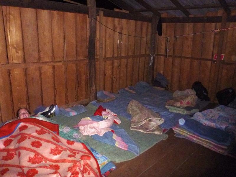 sleeping in village home