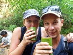 thailand trek drinking tea