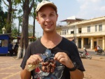 eating quail in kratie