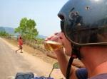 free beerlao on side of road