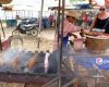 bbq pork at vang vieng markets