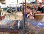 bbq pork at vang vieng markets