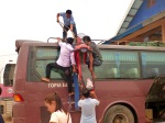 loading the bus in luang namtha