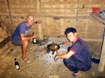 luang namtha hill village cooking dinner