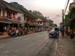 street in luang prabang