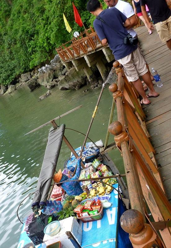 boat vendor selling drinks