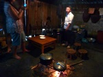 cooking dinner at hill tribe homestay