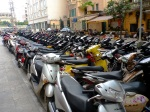 Scooter parking in Hanoi