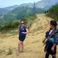 sharni talking to trek guide