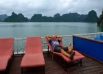 top deck in ha long bay