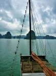 view from boat in ha long bay