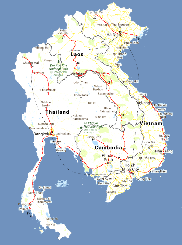 south east asia route map