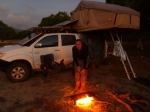 cooking dinner at cape melville