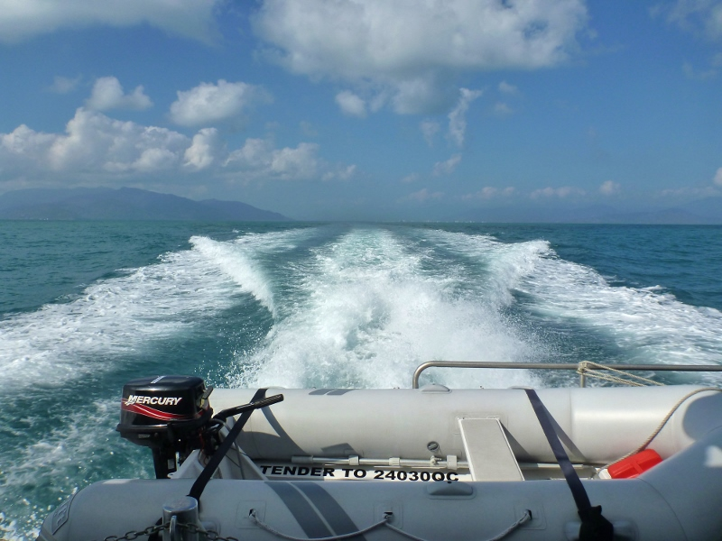 cruising towards great barrier reef