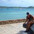 sharni with turtle on thursday island