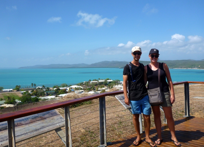 view from hill on thursday island