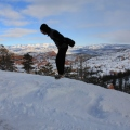 Bryce Canyon Joe jumping in snow