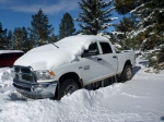 Bryce Canyon snow on vehicle