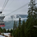 Cable car ride up to Grouse Mountain