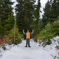 Finished snowshoeing, Grouse Mountain