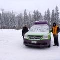 Fresh coat of snow on our Jucy Campervan Brighton Ski Resort, UTAH