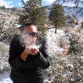Fresh powdery snow, Zion National Park, Utah