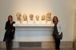 Heidi and Sharni blending in. METRO Museum NYC