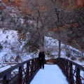 Icy trek to Emerald Pools, Zion National Park
