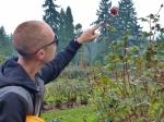 Joe admiring Portland's famous Rose Gardens