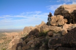 Joe and Sharni at the Teutonia Peak, Mojave Preserve California