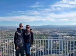 Joe and Sharni at the top of The Stratosphere Tower Las Vegas
