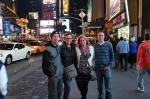 Joe, Sharni, Heidi and Elliot, Times Square NYC