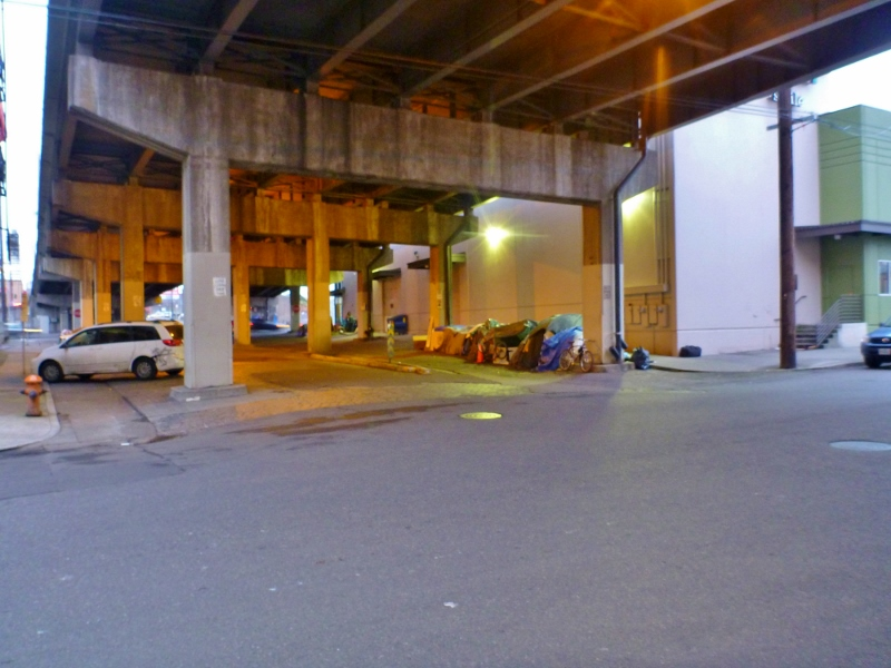 One of the many homeless camps around Portland