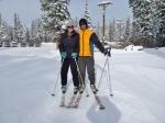 Sharni and Joe Skiing, Salt Lake City, Utah