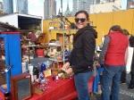 Sharni browsing, Hells Kitchen Flea Market New York City