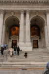 Sharni on the steps of New York Public Library