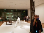 Sharni reflecting, Museum of Modern Art NYC
