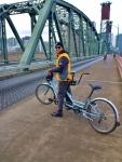 Tandem Biking, Steel Bridge