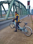 Tandem Biking, Steel Bridge