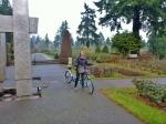 Tandem Biking, Test Rose Garden