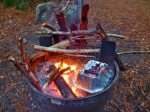 camp oven cooking in redwoods