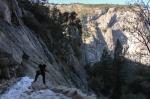 hiking though yosemite national park