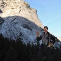 hiking through yosemite national park