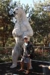 polar bear statue at san diego zoo