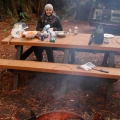sharni getting the roast ready