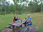 lunch at crows nest national park