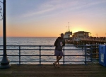 santa monica pier sun set