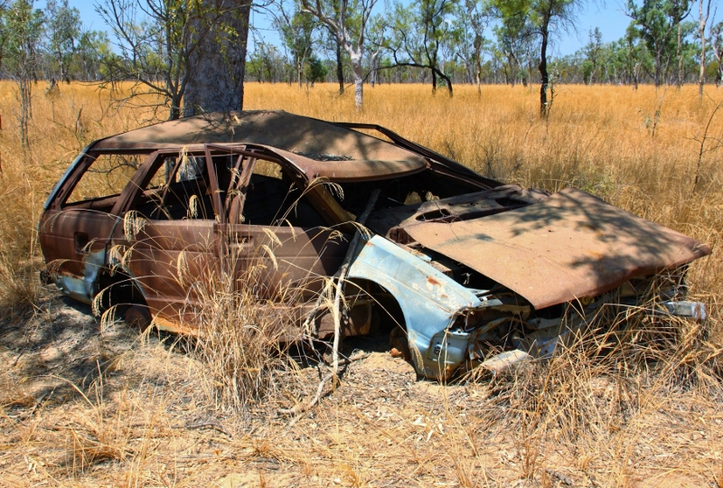 19 datsun stanza outback wreck north of bamaga